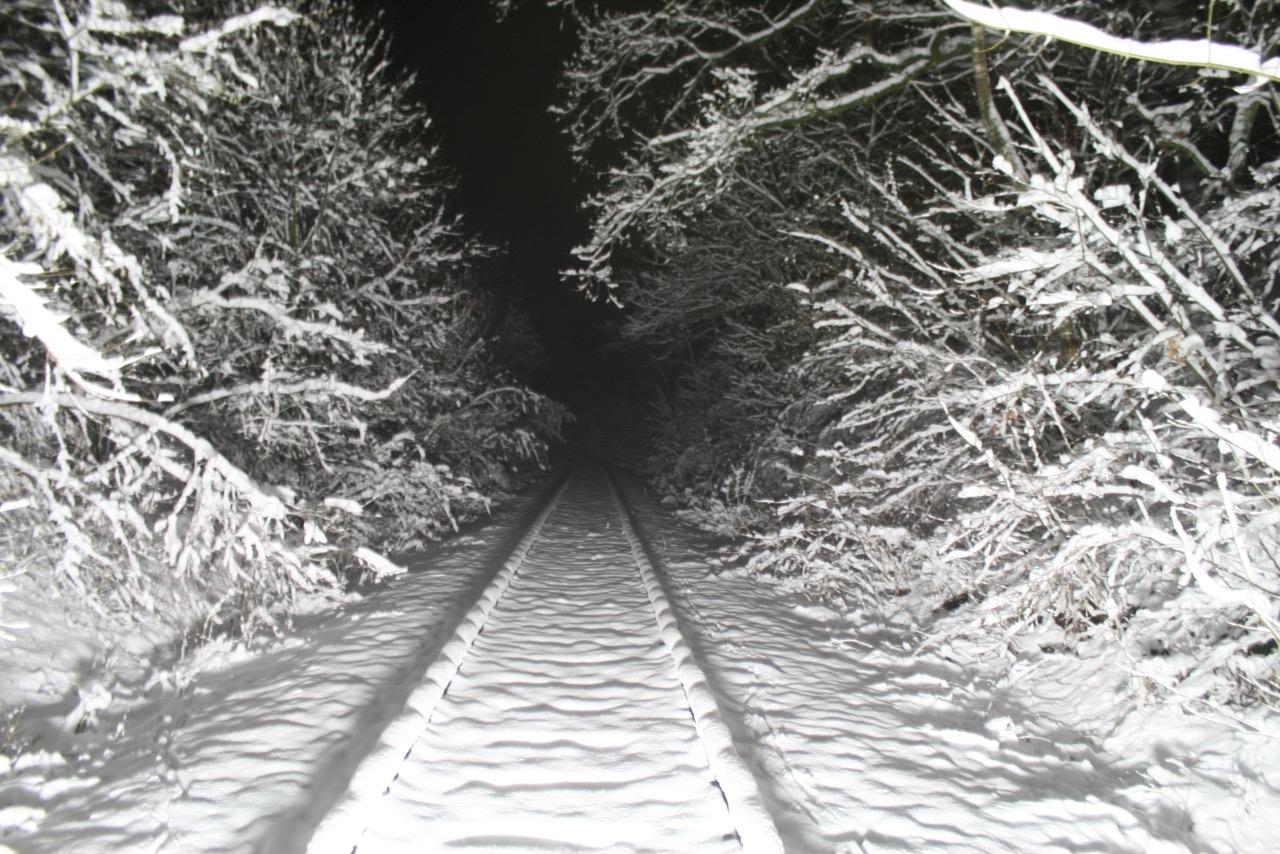 Strecke im Schnee